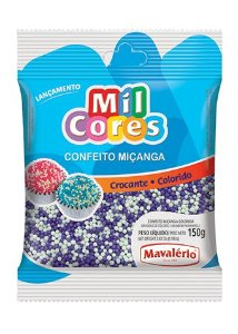 CONFEITO MIÇANGA BRANCA E LILAS Nº 0 MIL CORES 150G MAVALERIO