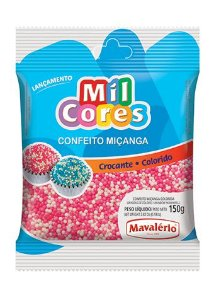 CONFEITO MIÇANGA BRANCA E ROSA Nº 0 MIL CORES 150G MAVALERIO