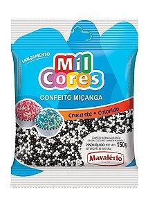CONFEITO MIÇANGA BRANCA E PRETA Nº 0 MIL CORES 150G MAVALERIO