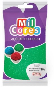 AÇÚCAR COLORIDO VERDE MIL CORES 80G MAVALERIO