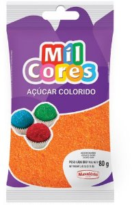 AÇÚCAR COLORIDO LARANJA MIL CORES 80G MAVALERIO