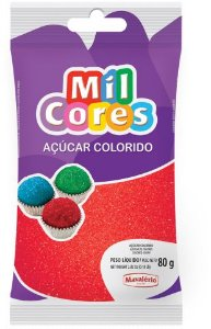 AÇÚCAR COLORIDO VERMELHO MIL CORES 80G MAVALERIO