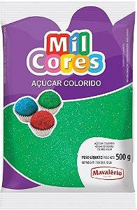 AÇÚCAR COLORIDO VERDE MIL CORES 500G MAVALERIO