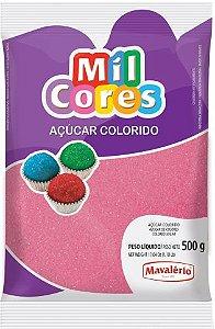 AÇÚCAR COLORIDO ROSA MIL CORES 500G MAVALERIO