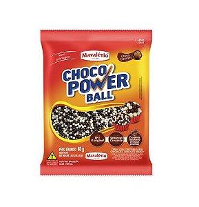 CHOCO POWER BALL MICRO SABOR CHOCOLATE E CHOCOLATE BRANCO 80G MAVALÉRIO