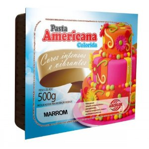 PASTA AMERICANA COLORIDA MARROM 500G ARCOLOR