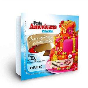 PASTA AMERICANA COLORIDA AMARELO 500G ARCOLOR