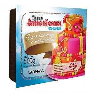 PASTA AMERICANA COLORIDA LARANJA 500G ARCOLOR