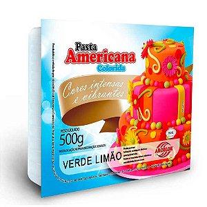 PASTA AMERICANA COLORIDA VERDE LIMÃO 500G ARCOLOR