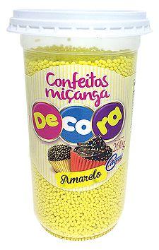 CEREAL COLORIDO AMARELO 160G CACAUFOODS