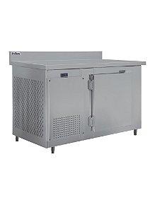 Balcao de servico Frilux inox encosto resfriados 1500 mm ar forcado rf 034 2 a 7 graus