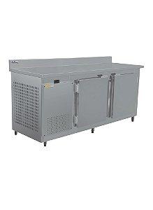 Balcao de servico frilux  inox encosto resfriados 1900 mm  rf RF-038 2 a 7 graus