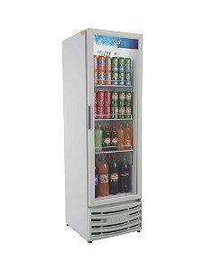 Expositor vertical visa cooler com led rf 003 porta de vidro 300 lts +2 a +8