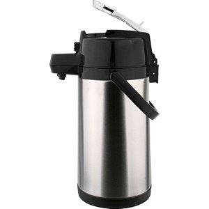 Garrafa Térmica Aço Inox Pressão com Alavanca Termopro 2500 ml