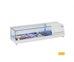 Vitrine Refrigerada inox para Sushi  126 x 40 x 31 cm Fritomaq