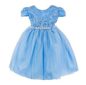 Vestido Infantil - Azul Frozen