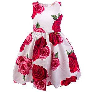 Vestido Infantil Vermelho estampado – Rainha de Copas