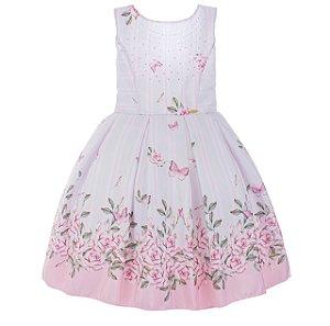 Vestido Infantil Rosa claro – Jardim Encantado