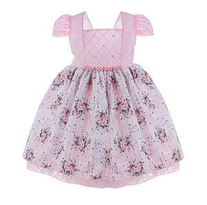 Vestido Infantil Rosa Claro – Jardim das Flores