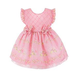 Vestido Infantil Rosa Claro – Princesa encantada