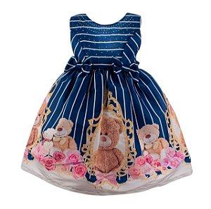 Vestido Infantil azul – Teedy Urso