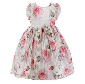 Vestido Infantil Branco –Sonho de jardim