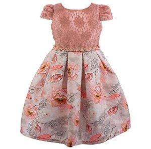 Vestido infantil Rosê– Jardim das Rosas