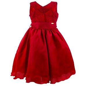 Vestido infantil Vermelho Luxuoso