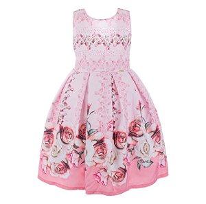 Vestido infantil flores encantadas