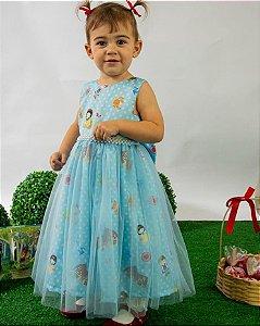 Vestido Infantil Isabelle Pump Temático Branca de Neve