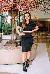 Vestido em Malha Mescla - Luciana Pais