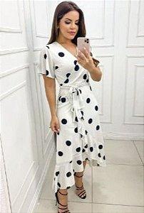 Vestido Poá Branco - Az Irmãs