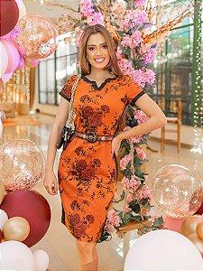 Vestido Tubinho Flores - Raje