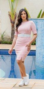 Vestido Xadrez em Alfaiataria - Luciana Pais