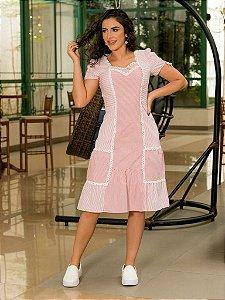 Vestido em Camisaria Listrada - Luciana Pais