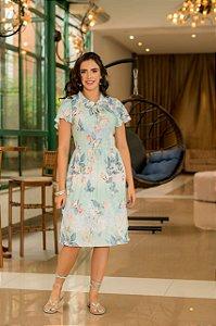 Vestido em Malha Canelada - Luciana Pais