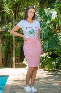 T-Shirt em Malha -  Luciana Pais