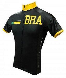CAMISA CICLISMO BRASIL DARK - FREE FORCE
