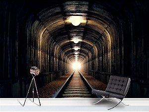 Painel Parede Fotográfico Luz no Fim do Túnel