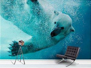 Papel de Parede Fotográfico - Mergulho Urso polar - PA093
