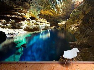 Papel de Parede Fotográfico - Piscina da caverna - PA095