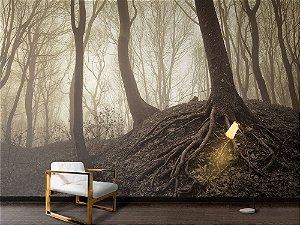 Papel de Parede Fotográfico - Árvores com raízes visíveis - PA098
