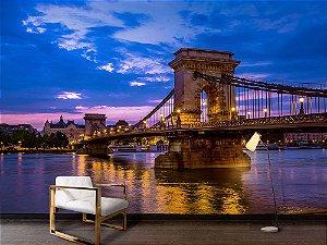 Painel Parede Fotográfico Ponte rio Danúbio