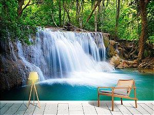 Papel de Parede Fotográfico - Cachoeira da floresta em Kanchanaburi - PA114