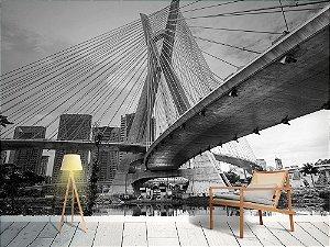 Papel de Parede Fotográfico - Ponte estaiada em São Paulo - PA122