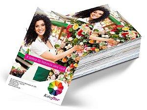 Folheto 21x29,7cm em Couche 90gr