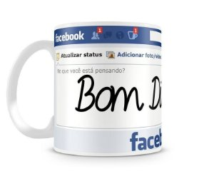 Caneca Recado do Facebook - Porcelana Branca