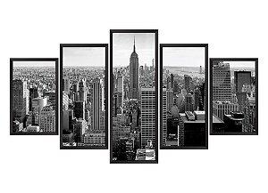 Quadro Mosaico Nova York 3 em 5 partes
