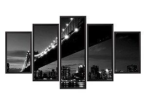 Quadro Mosaico Nova York 4 em 5 partes