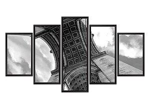 Quadro Mosaico Arco do Triunfo em 5 partes